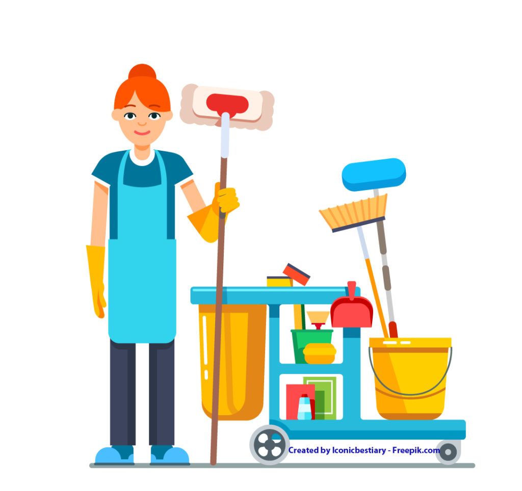 Aiutante servizi di pulizia